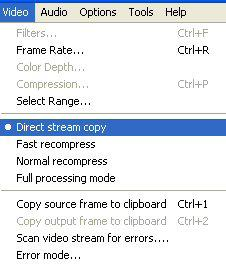 direct stream copy